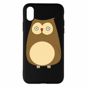 Etui na iPhone X/Xs Owl with big eyes