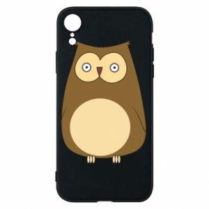 Etui na iPhone XR Owl with big eyes