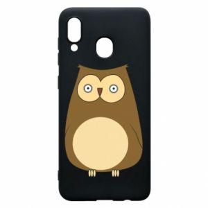 Etui na Samsung A20 Owl with big eyes