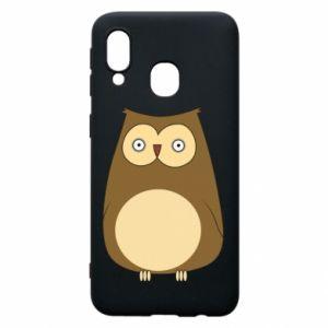 Etui na Samsung A40 Owl with big eyes