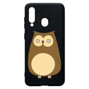 Etui na Samsung A60 Owl with big eyes