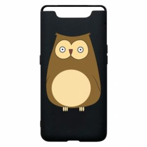 Etui na Samsung A80 Owl with big eyes