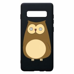 Etui na Samsung S10+ Owl with big eyes