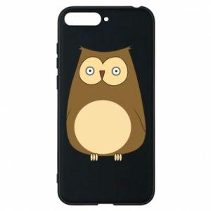 Etui na Huawei Y6 2018 Owl with big eyes