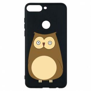 Etui na Huawei Y7 Prime 2018 Owl with big eyes