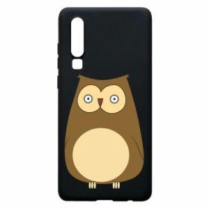 Etui na Huawei P30 Owl with big eyes