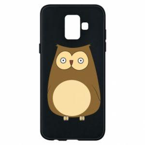 Etui na Samsung A6 2018 Owl with big eyes