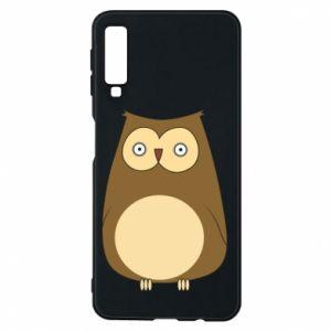 Etui na Samsung A7 2018 Owl with big eyes