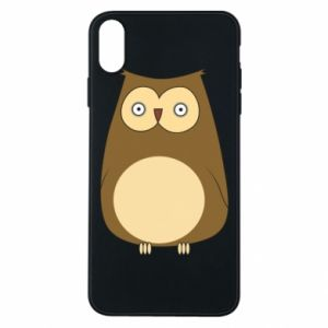 Etui na iPhone Xs Max Owl with big eyes