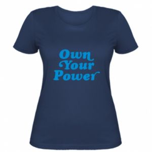 Damska koszulka Own your power