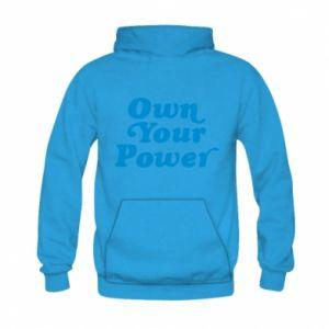 Bluza z kapturem dziecięca Own your power