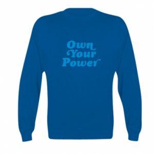 Bluza dziecięca Own your power