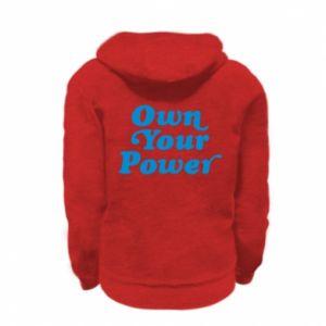 Bluza na zamek dziecięca Own your power