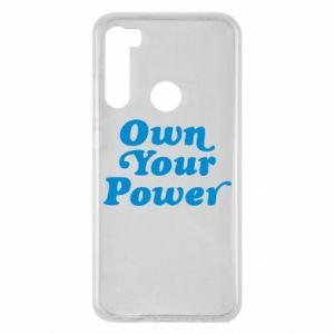 Etui na Xiaomi Redmi Note 8 Own your power