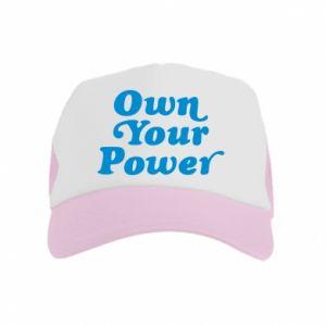Czapka trucker dziecięca Own your power