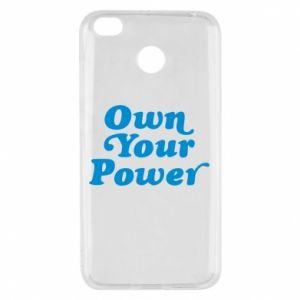 Etui na Xiaomi Redmi 4X Own your power