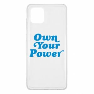 Etui na Samsung Note 10 Lite Own your power