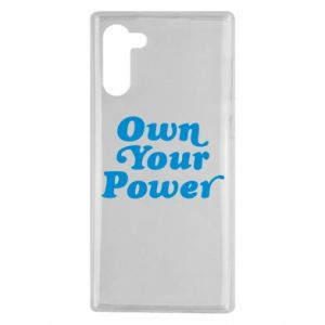 Etui na Samsung Note 10 Own your power