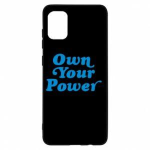 Etui na Samsung A31 Own your power