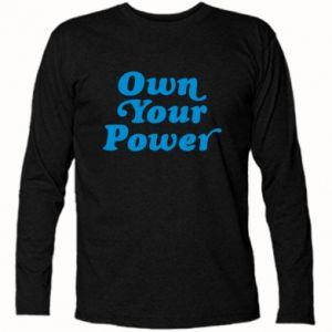 Koszulka z długim rękawem Own your power