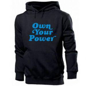 Męska bluza z kapturem Own your power