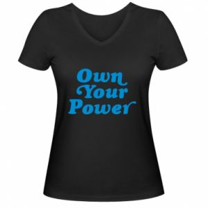 Damska koszulka V-neck Own your power