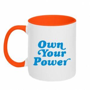 Kubek dwukolorowy Own your power