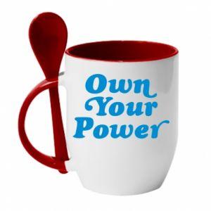 Kubek z ceramiczną łyżeczką Own your power