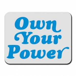 Mouse pad Own your power