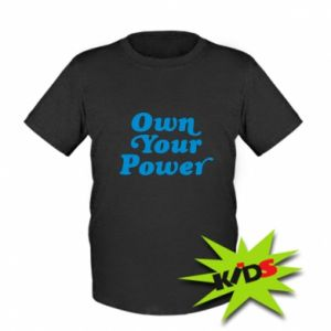 Kids T-shirt Own your power