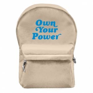 Backpack with front pocket Own your power