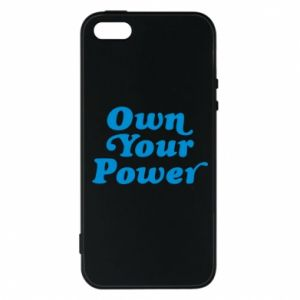 Etui na iPhone 5/5S/SE Own your power