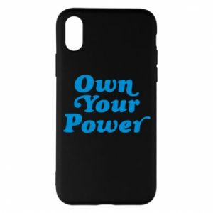 Etui na iPhone X/Xs Own your power
