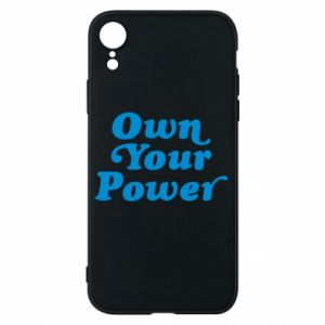 Etui na iPhone XR Own your power