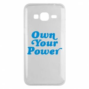 Phone case for Samsung J3 2016 Own your power