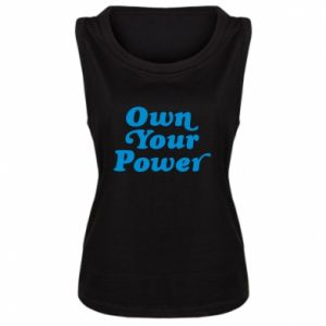 Damska koszulka bez rękawów Own your power