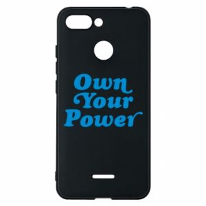 Phone case for Xiaomi Redmi 6 Own your power