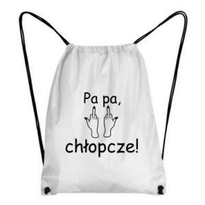 Plecak-worek Pa pa, chłopcze!