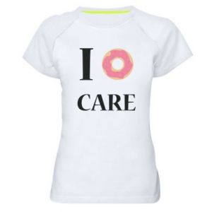 Women's sports t-shirt Donut