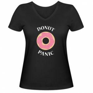 Women's V-neck t-shirt Donut