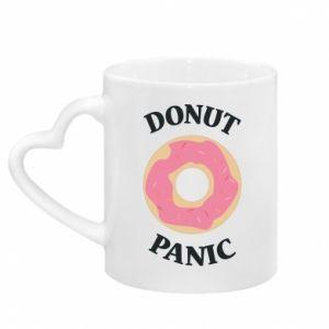 Mug with heart shaped handle Donut