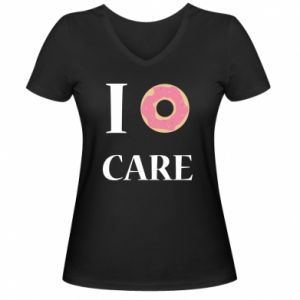 Women's V-neck t-shirt Donut