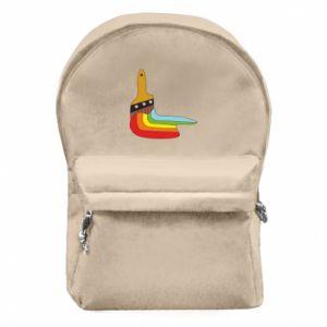 Plecak z przednią kieszenią Paint brush