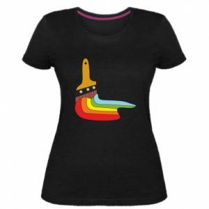 Damska premium koszulka Paint brush