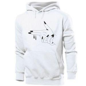 Men's hoodie Fingers with a gun