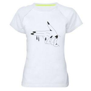 Damska koszulka sportowa Palce z pistoletem
