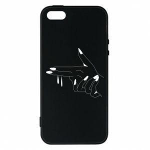 Etui na iPhone 5/5S/SE Palce z pistoletem