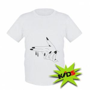 Dziecięcy T-shirt Palce z pistoletem