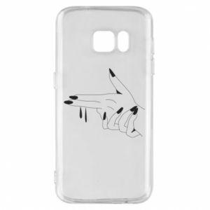Etui na Samsung S7 Palce z pistoletem