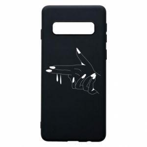 Etui na Samsung S10 Palce z pistoletem